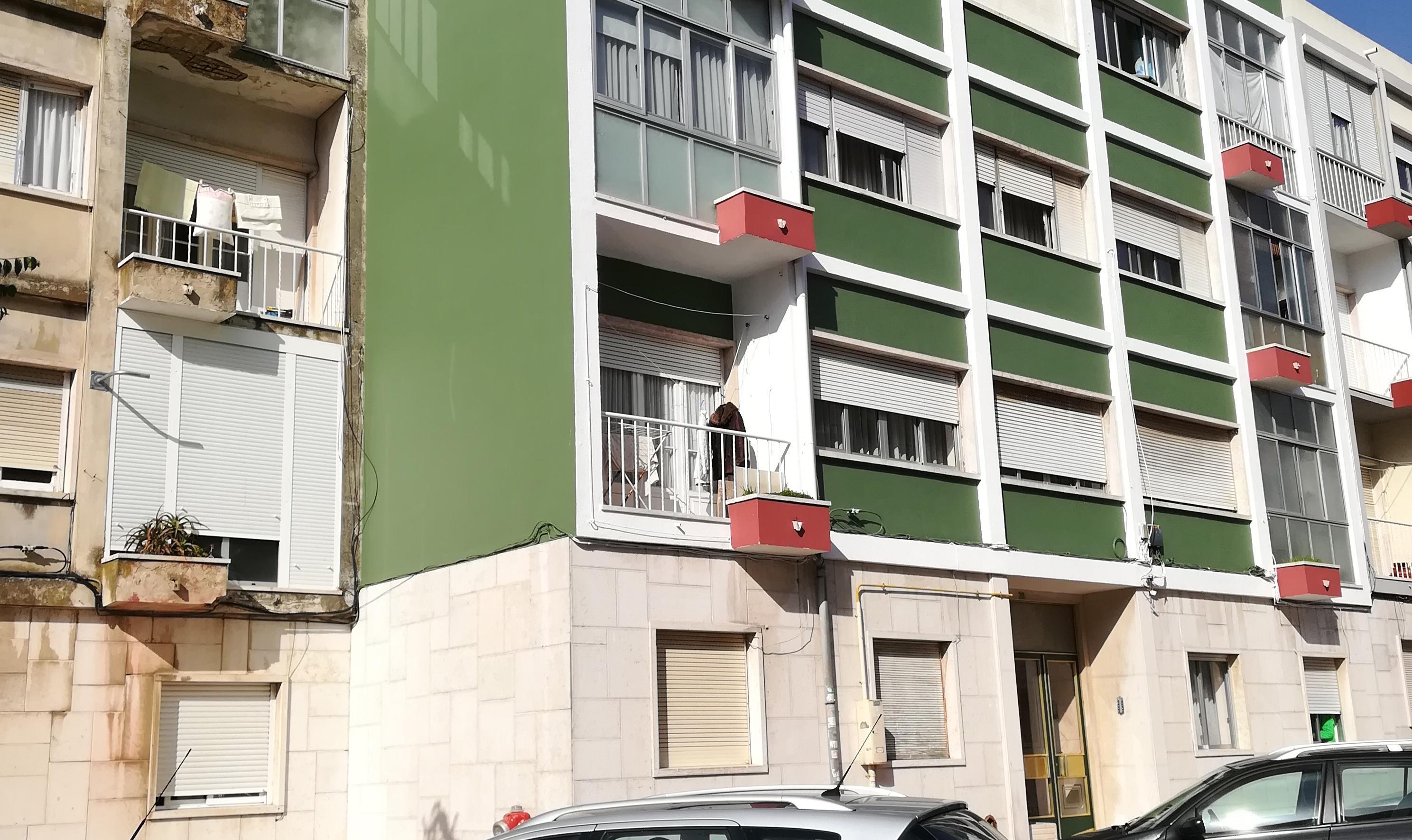 Pintura exterior dos prédios